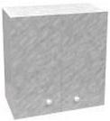 Шкаф навесной с сушкой LD (2-х дверный) (мрамор)