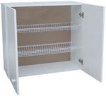 Шкаф навесной с сушкой LD (2-х дверный) (белый)